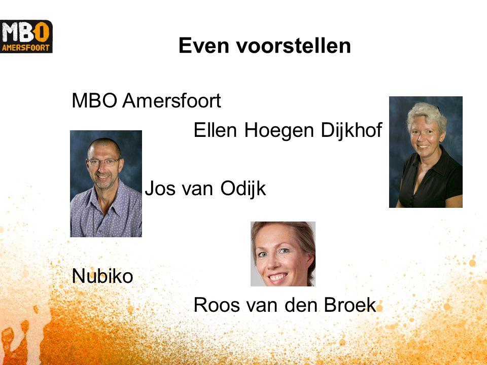 Even voorstellen MBO Amersfoort Ellen Hoegen Dijkhof Jos van Odijk Nubiko Roos van den Broek
