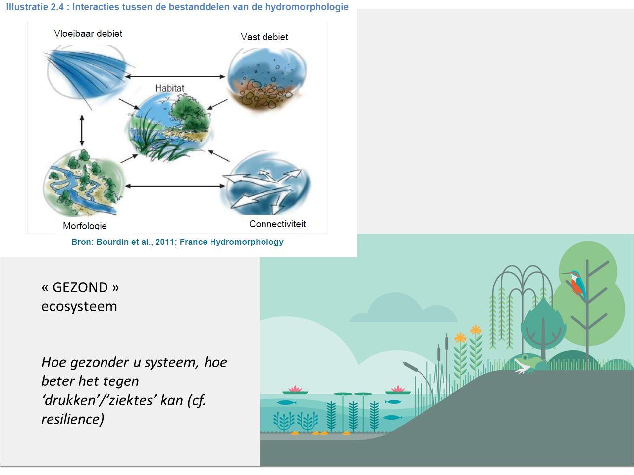 « GEZOND » ecosysteem Hoe gezonder u systeem, hoe beter het tegen 'drukken'/'ziektes' kan (cf.