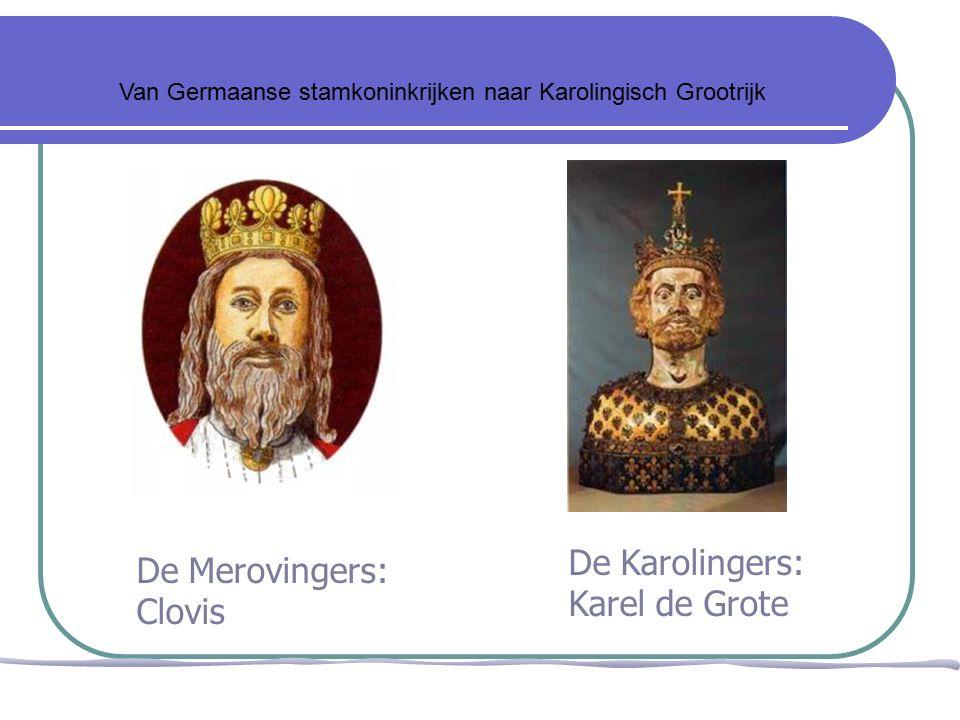 Franken Merovingers Germanen Clovis Koning der Franken Rijk uitgebreid van de Rijn tot de Pyreneeën