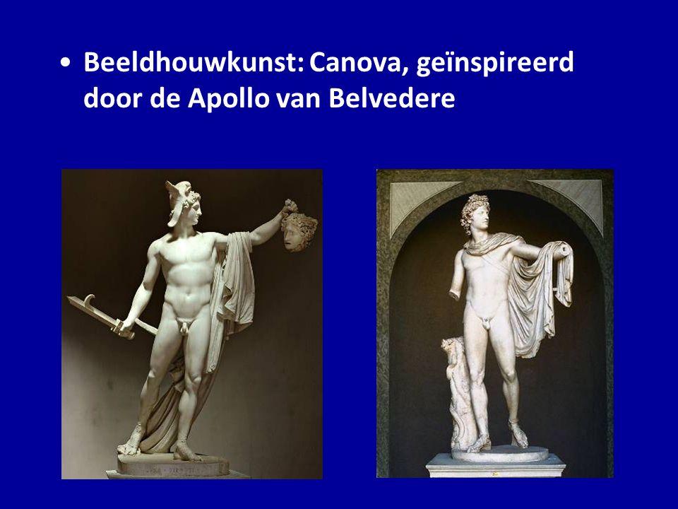 Beeldhouwkunst: Canova, geïnspireerd door de Apollo van Belvedere