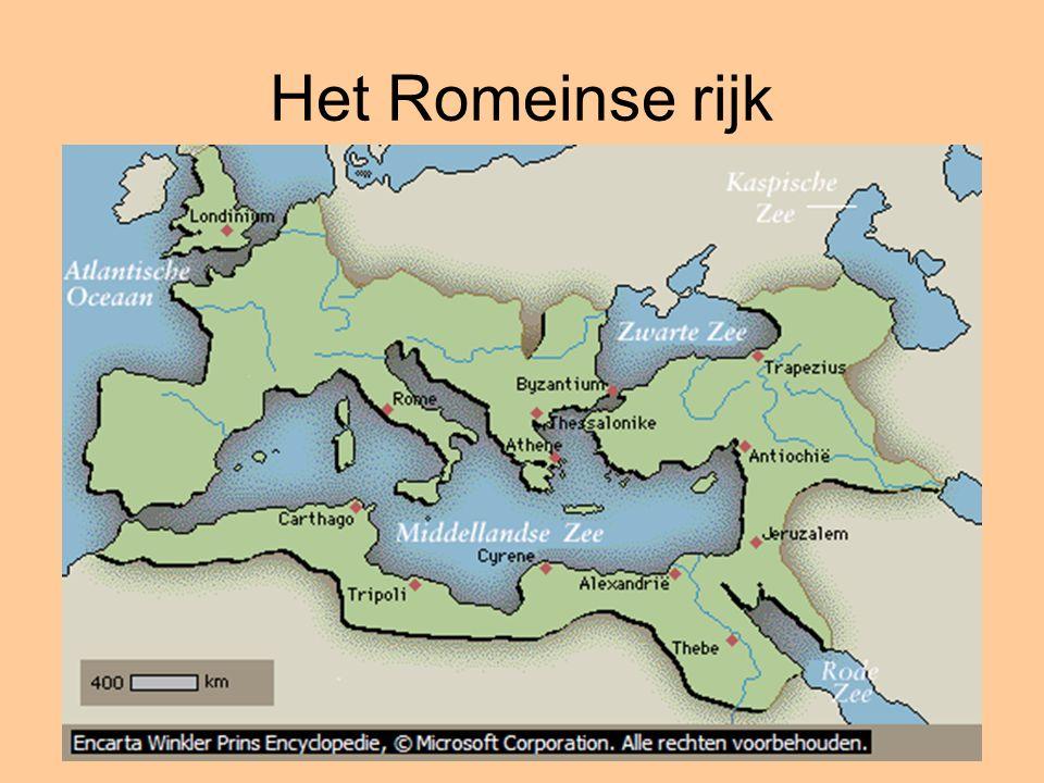 Het rijk valt in tweeën Het westen verbrokkelt.Het Oosten gaat verder als het Byzantijnse rijk.