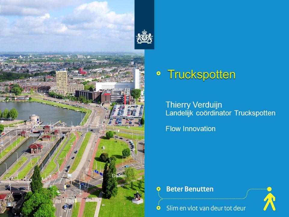 Thierry Verduijn Landelijk coördinator Truckspotten Flow Innovation Datum