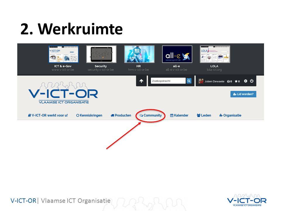 V-ICT-OR| Vlaamse ICT Organisatie 2. Werkruimte