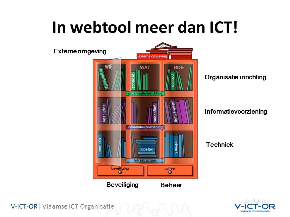 V-ICT-OR| Vlaamse ICT Organisatie In webtool meer dan ICT.