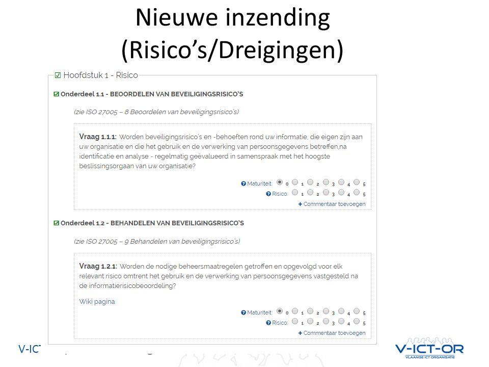 V-ICT-OR| Vlaamse ICT Organisatie Nieuwe inzending (Risico's/Dreigingen)