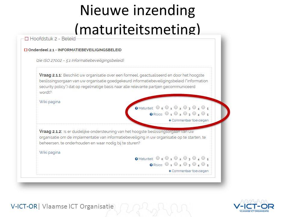 V-ICT-OR| Vlaamse ICT Organisatie Nieuwe inzending (maturiteitsmeting)