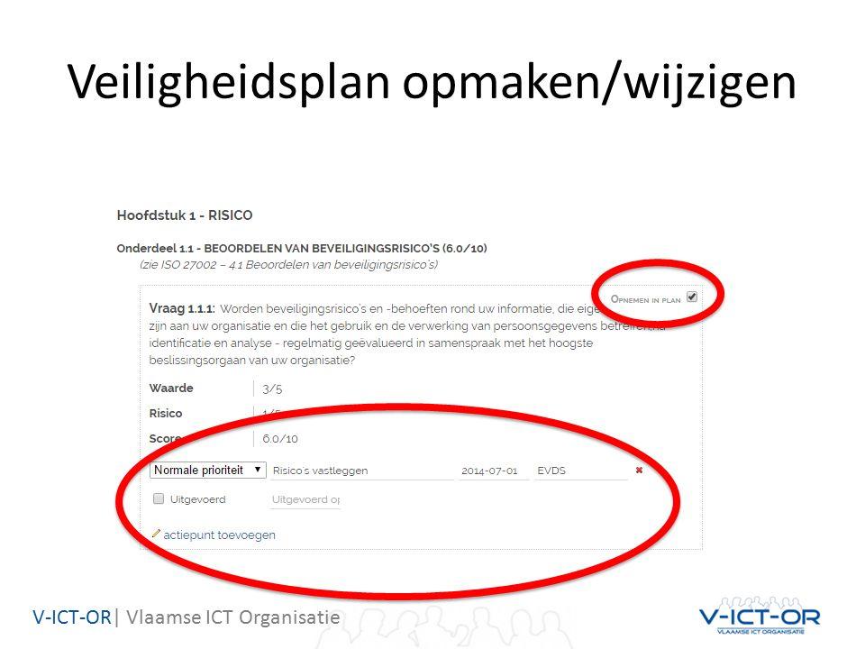 V-ICT-OR| Vlaamse ICT Organisatie Veiligheidsplan opmaken/wijzigen