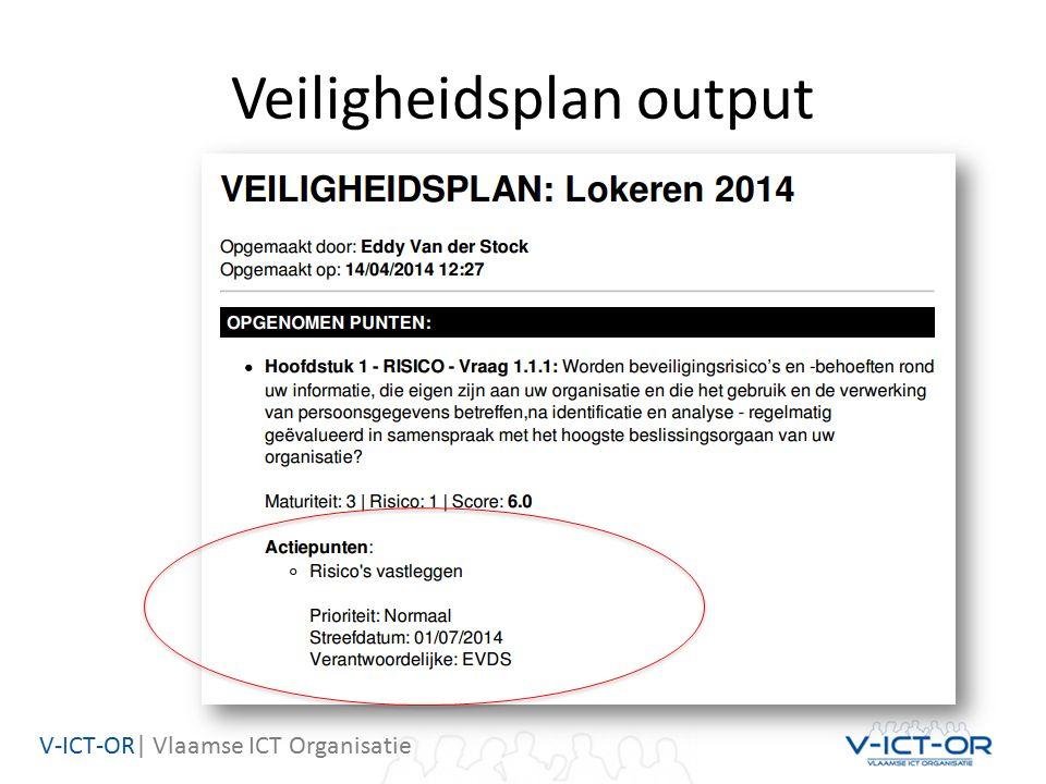 V-ICT-OR| Vlaamse ICT Organisatie Veiligheidsplan output