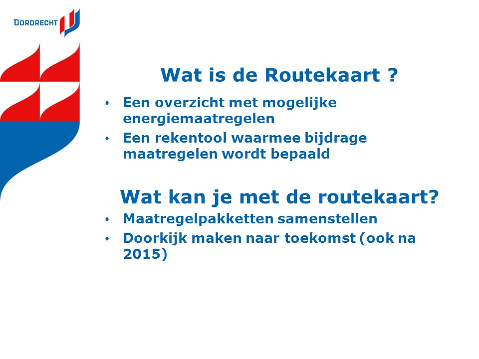Wat is de Routekaart .