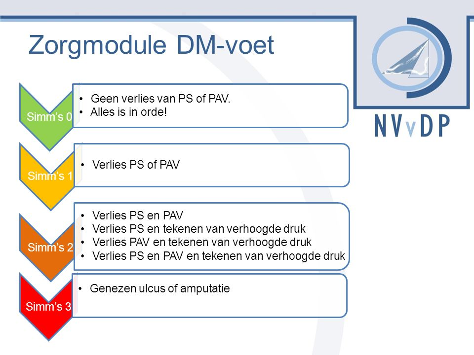 Zorgmodule DM-voet Simm's 0 Geen verlies van PS of PAV.