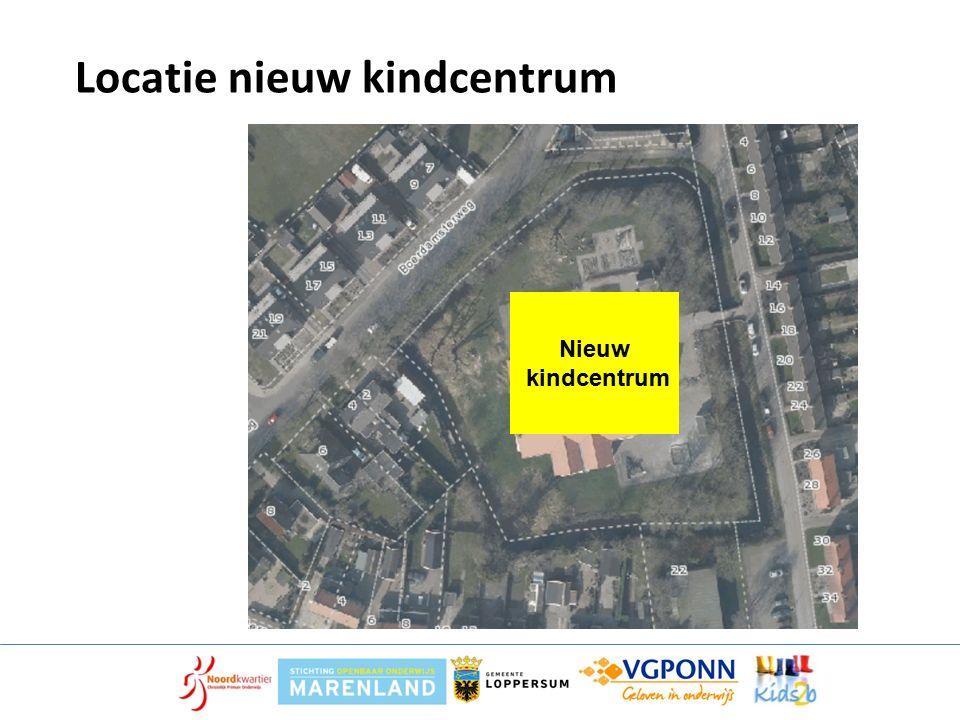 Locatie nieuw kindcentrum Nieuw kindcentrum