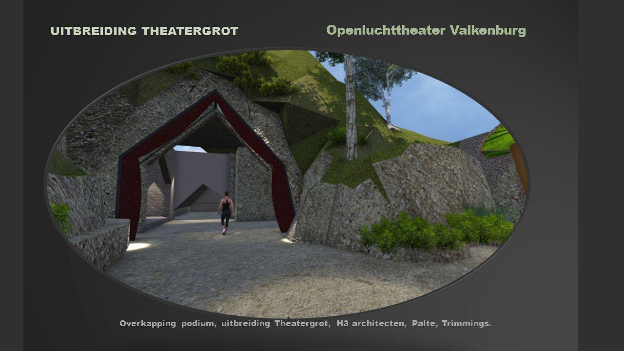 Openluchttheater Valkenburg RESUME FIN Overkapping podium, uitbreiding Theatergrot, H3 architecten,Palte, Trimmings.