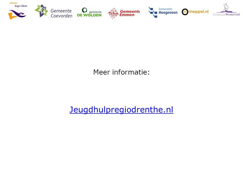 Meer informatie: Jeugdhulpregiodrenthe.nl