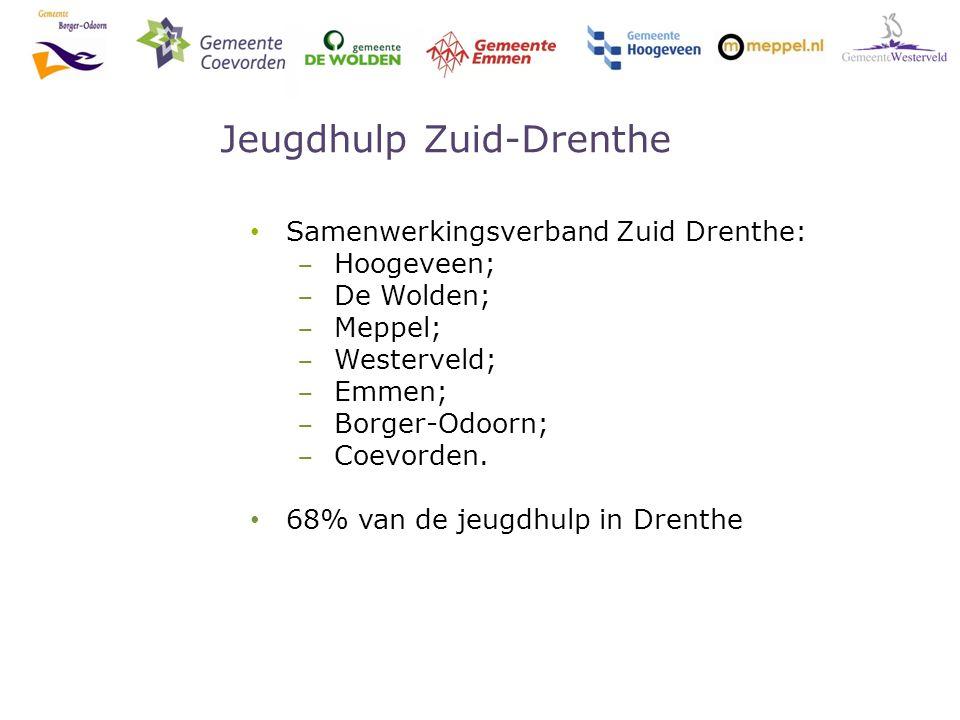 Jeugdhulp Zuid-Drenthe Samenwerkingsverband Zuid Drenthe: ‒ Hoogeveen; ‒ De Wolden; ‒ Meppel; ‒ Westerveld; ‒ Emmen; ‒ Borger-Odoorn; ‒ Coevorden.