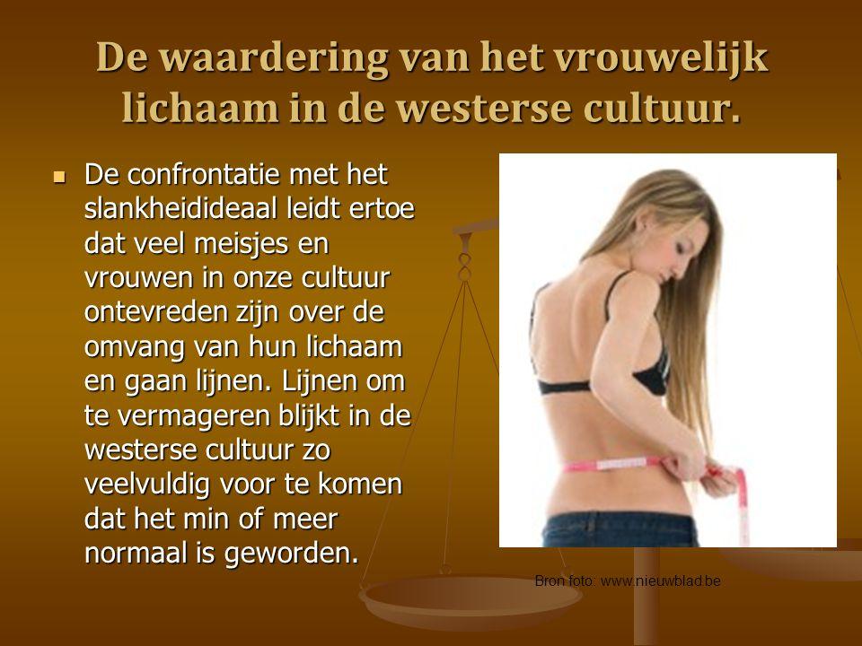 De waardering van het vrouwelijk lichaam in de westerse cultuur.
