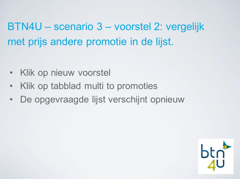 BTN4U – scenario 3 – voorstel 2: vergelijk met prijs andere promotie in de lijst.