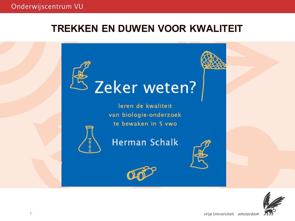 12 Opdracht'Duwen' Ga naar bladzij 131 van het proefschrift en lees het fragment van het gesprek tussen Bonnie, Ineke en hun docent over hun onderzoek.