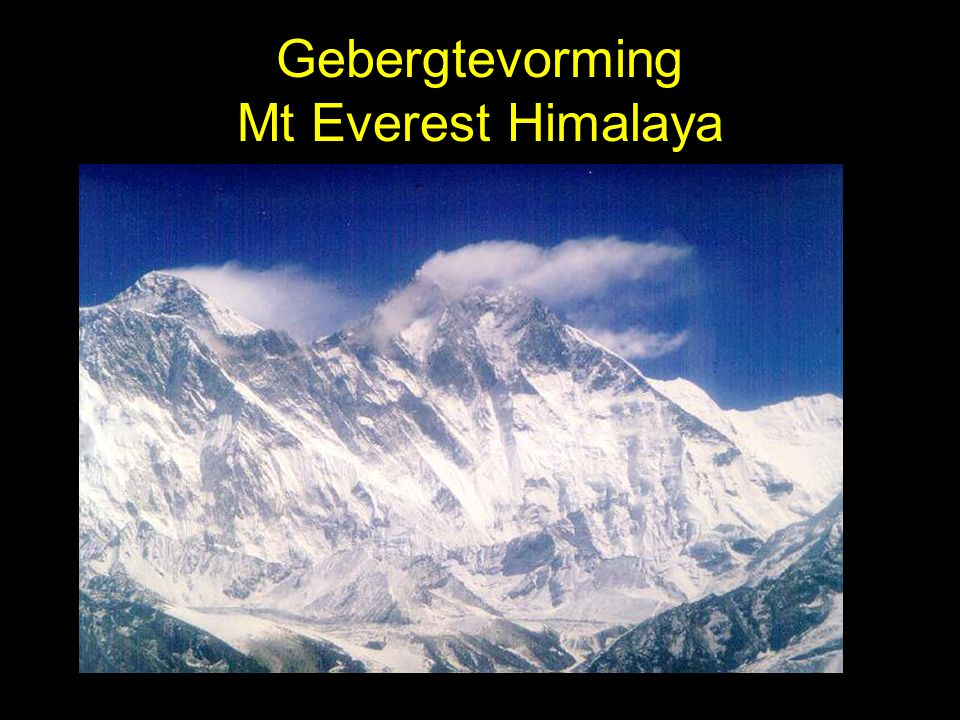 Gebergtevorming Mt Everest Himalaya