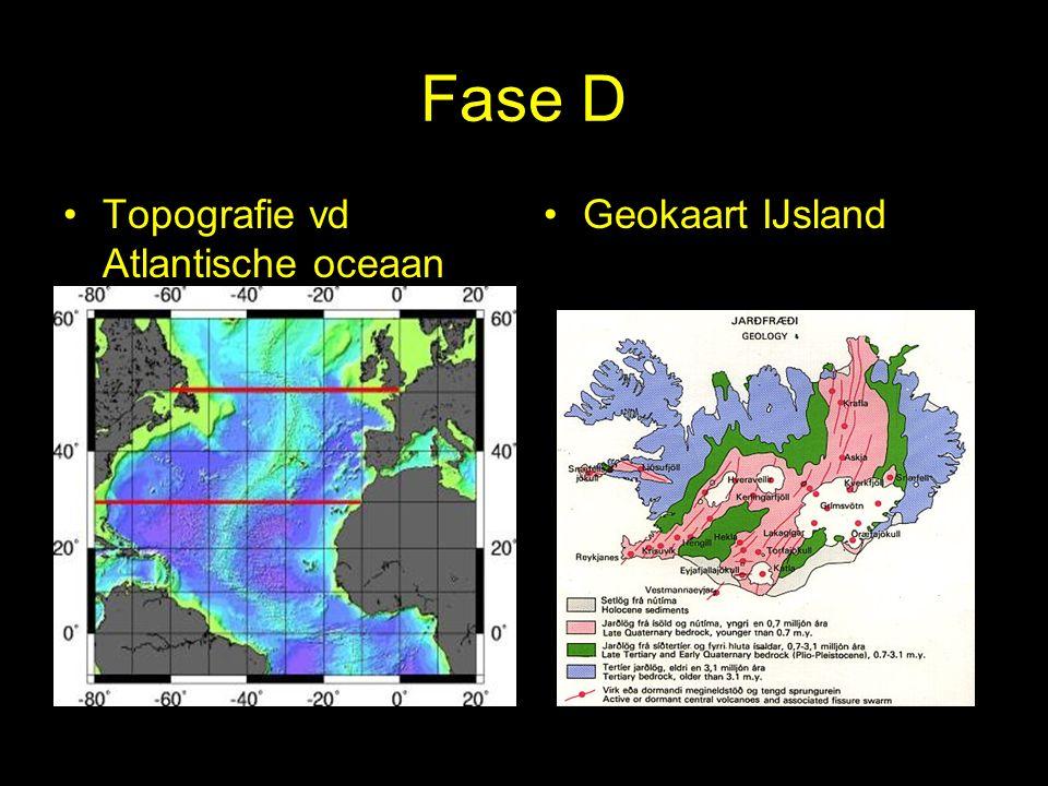 Fase D Topografie vd Atlantische oceaan Geokaart IJsland