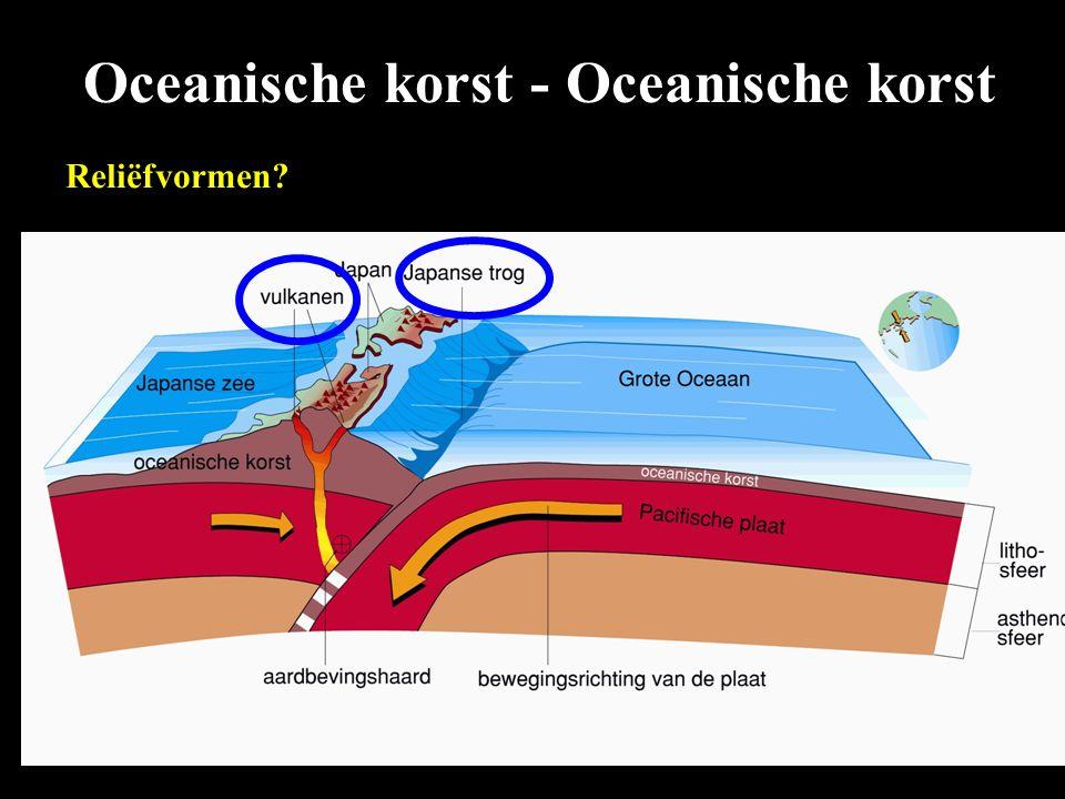 Oceanische korst - Oceanische korst Reliëfvormen?