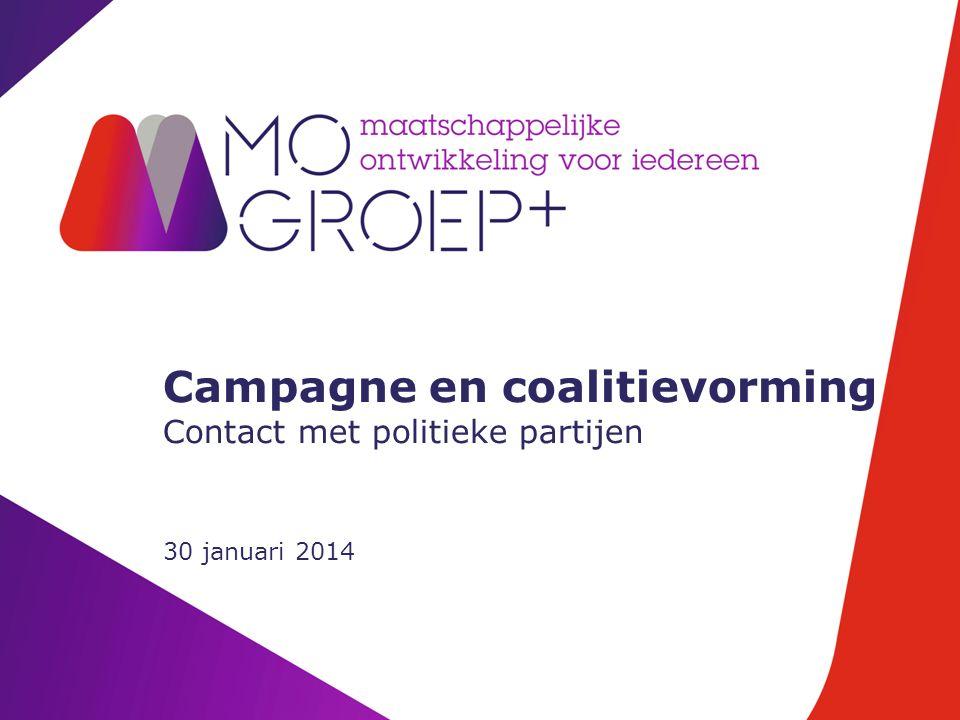 Campagne en coalitievorming Contact met politieke partijen 30 januari 2014