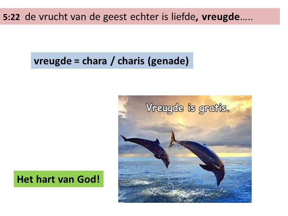 5:22 de vrucht van de geest echter is liefde, vreugde….. vreugde… (genade) ziels: