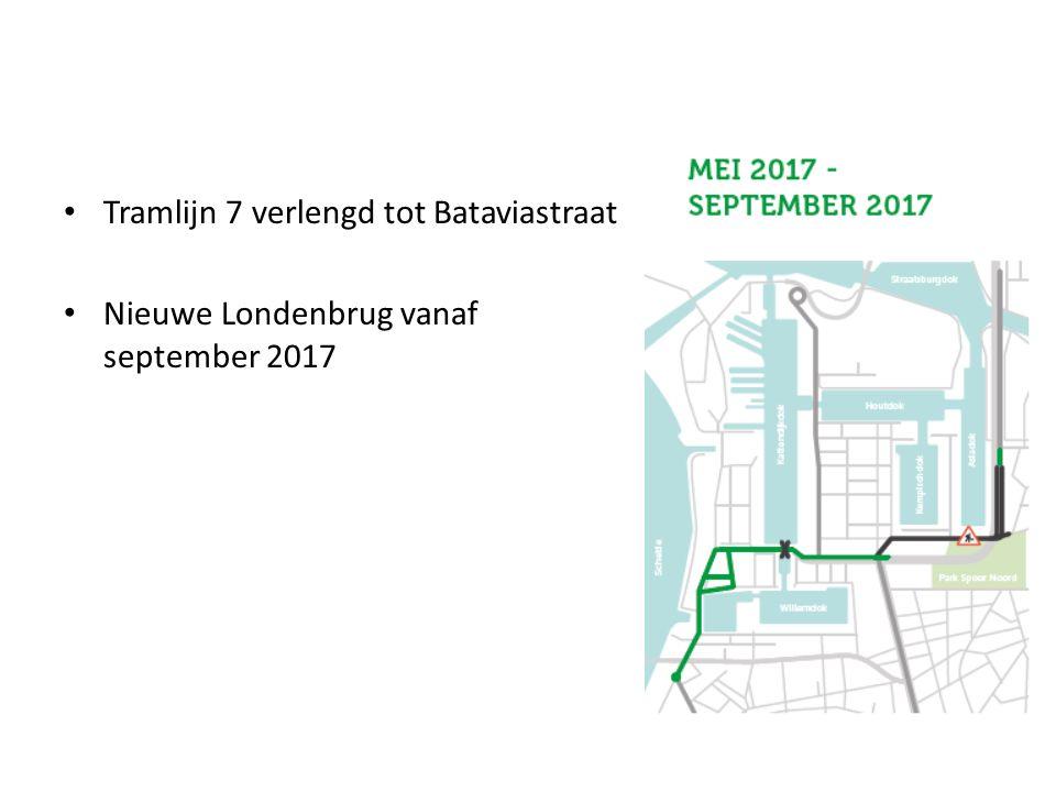 Tramlijn 7 verlengd tot Bataviastraat Nieuwe Londenbrug vanaf september 2017