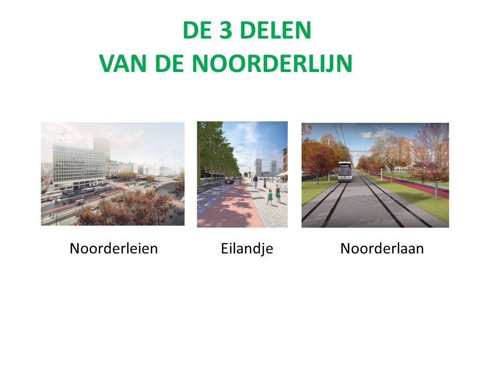DE 3 DELEN VAN DE NOORDERLIJN Noorderleien Eilandje Noorderlaan