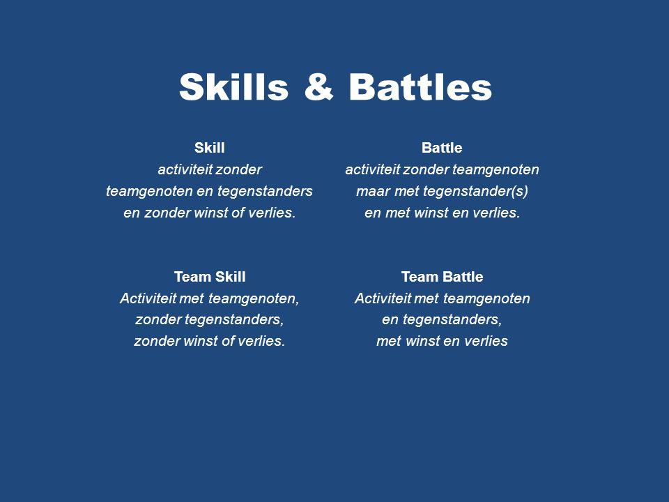 Skills & Battles Skill activiteit zonder teamgenoten en tegenstanders en zonder winst of verlies.