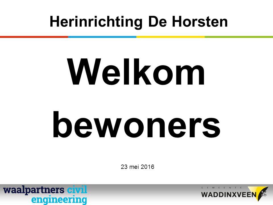 Herinrichting De Horsten Welkom bewoners 23 mei 2016