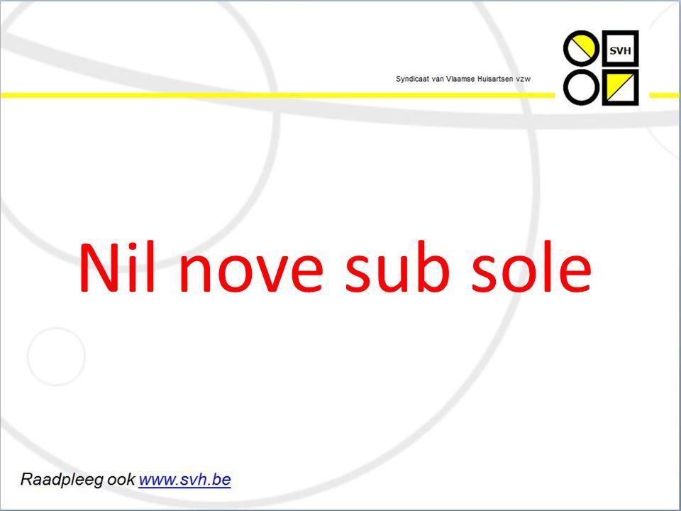 Nil nove sub sole