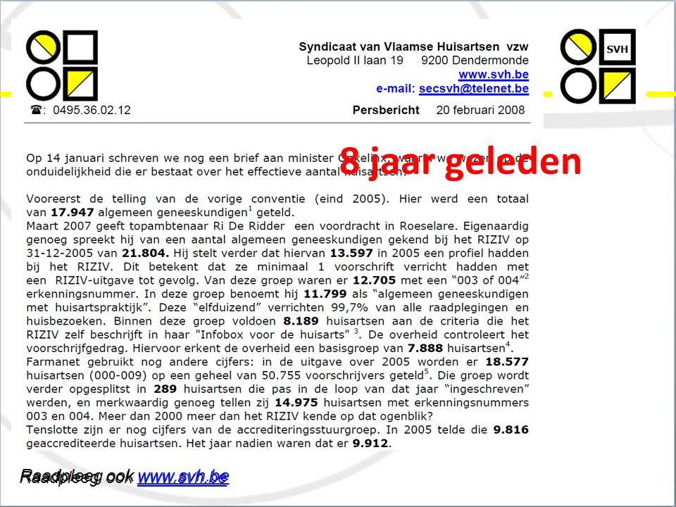 Raadpleeg ook www.svh.bewww.svh.be Syndicaat van Vlaamse Huisartsen vzw 8 jaar geleden