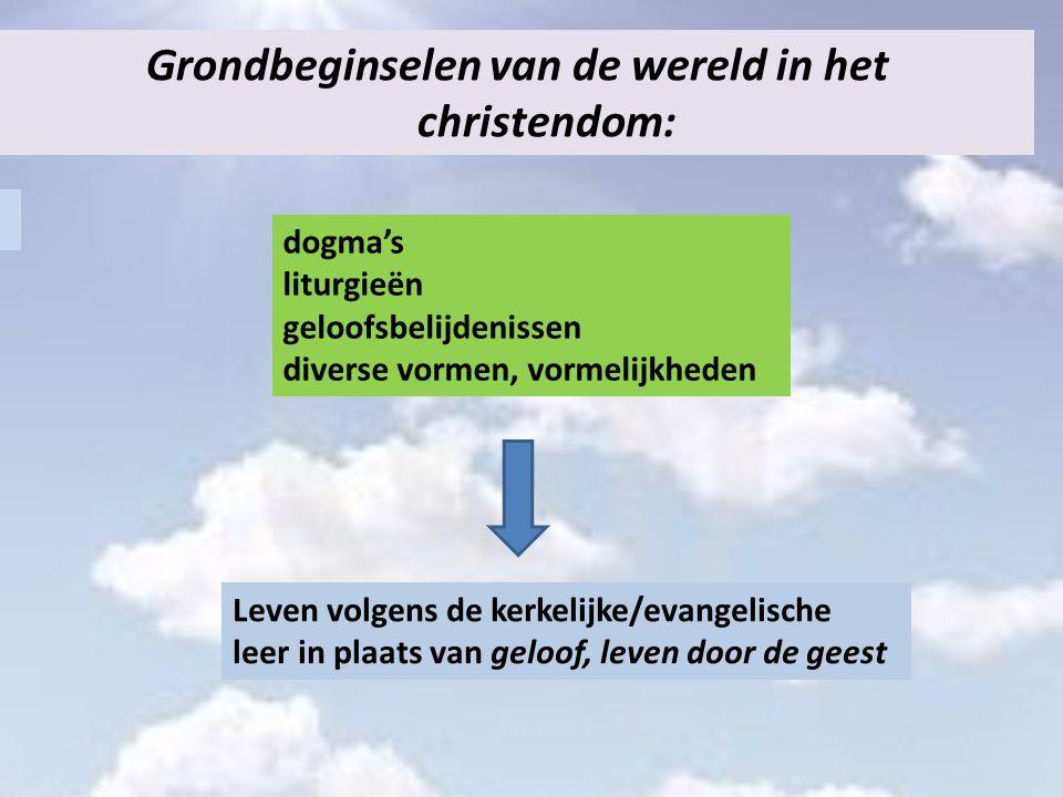 Grondbeginselen van de wereld in het christendom: dogma's liturgieën geloofsbelijdenissen diverse vormen, vormelijkheden Leven volgens de kerkelijke/e