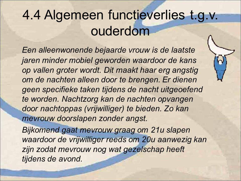 4.4 Algemeen functieverlies t.g.v.