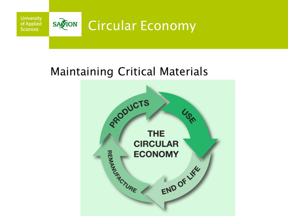 Circular Economy Maintaining Critical Materials