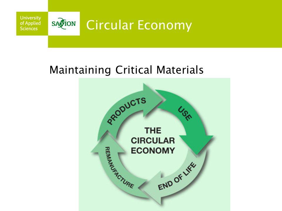 Circular Economy Maintaining Critical Materials