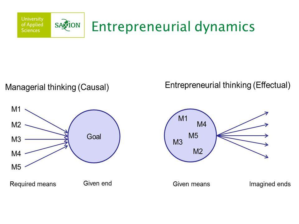 Entrepreneurial dynamics