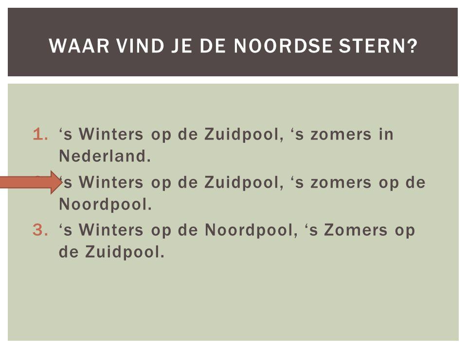 1.'s Winters op de Zuidpool, 's zomers in Nederland.