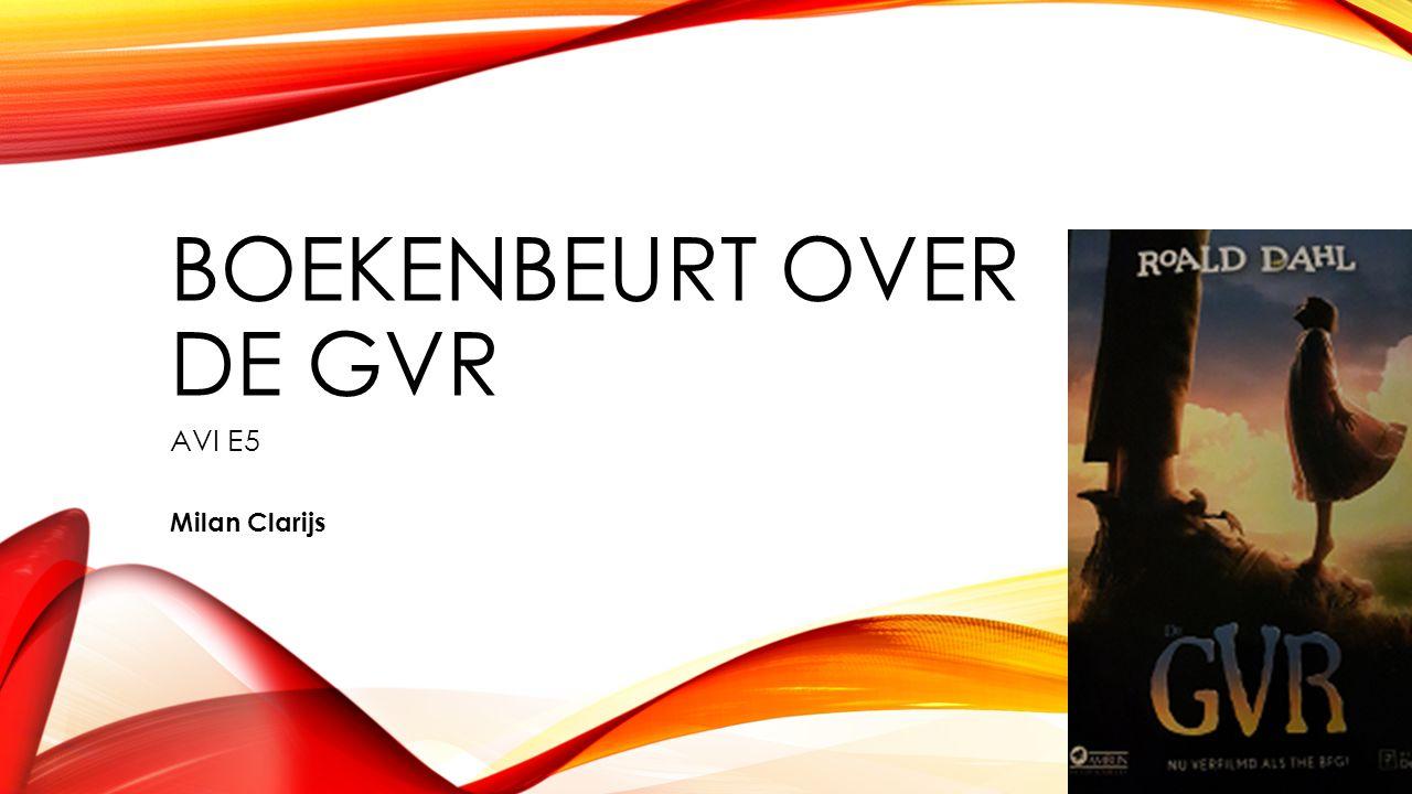 BOEKENBEURT OVER DE GVR AVI E5 Milan Clarijs