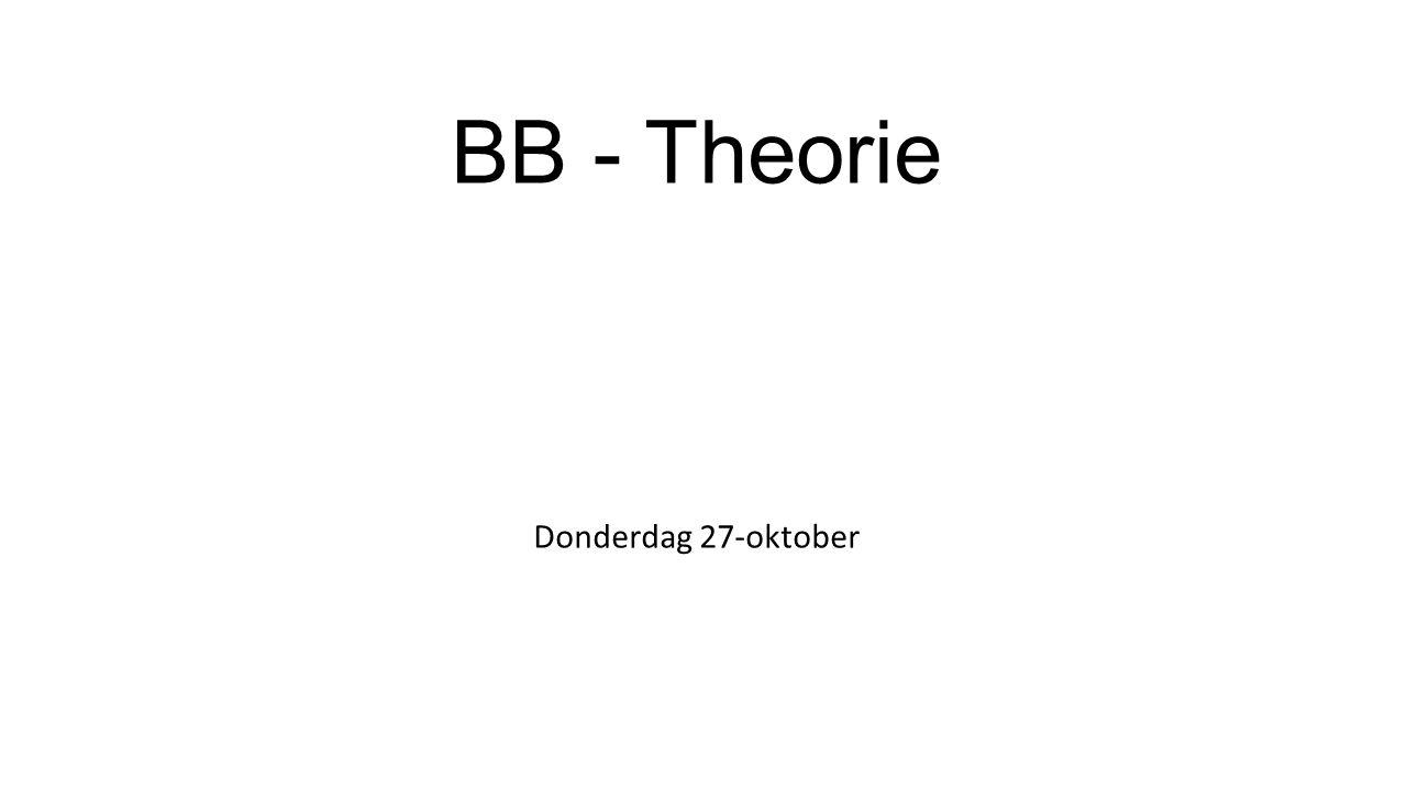 BB - Theorie Donderdag 27-oktober