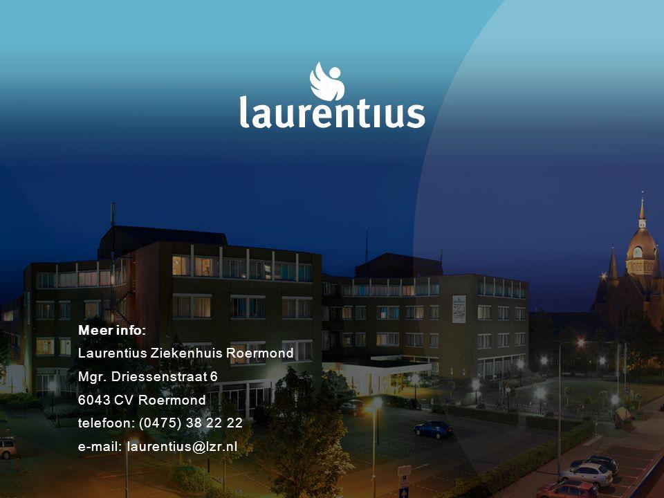 Meer info: Laurentius Ziekenhuis Roermond Mgr.