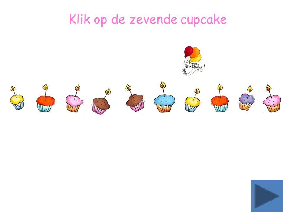 Klik op de achtste ster Klik op de achtste cupcake