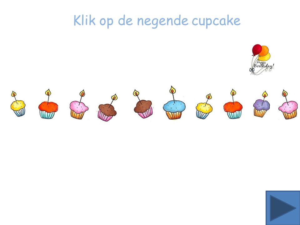 Klik op de achtste ster Klik op de zevende cupcake