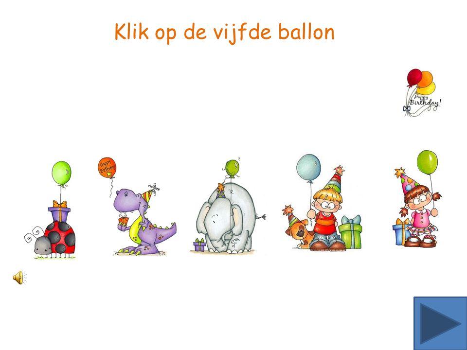 Klik op de tweede ballon