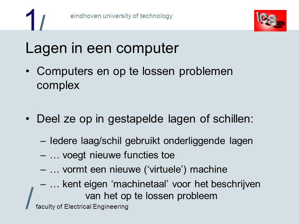 1/1/ / faculty of Electrical Engineering eindhoven university of technology Lagen in een computer Computers en op te lossen problemen complex Deel ze