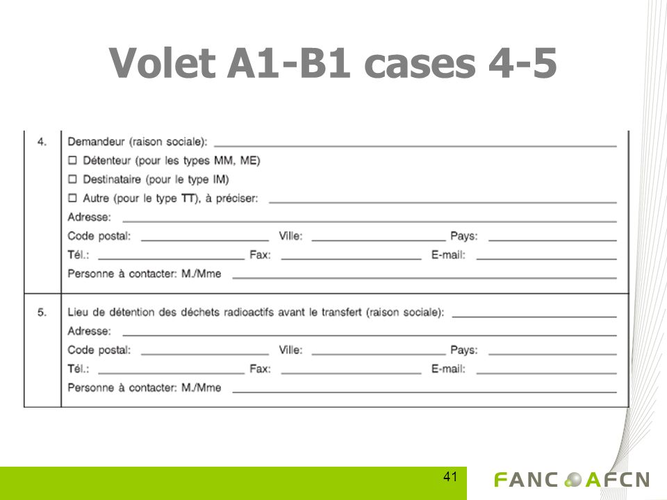 41 Volet A1-B1 cases 4-5