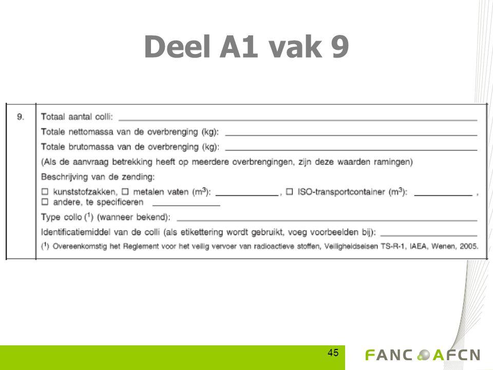 45 Deel A1 vak 9