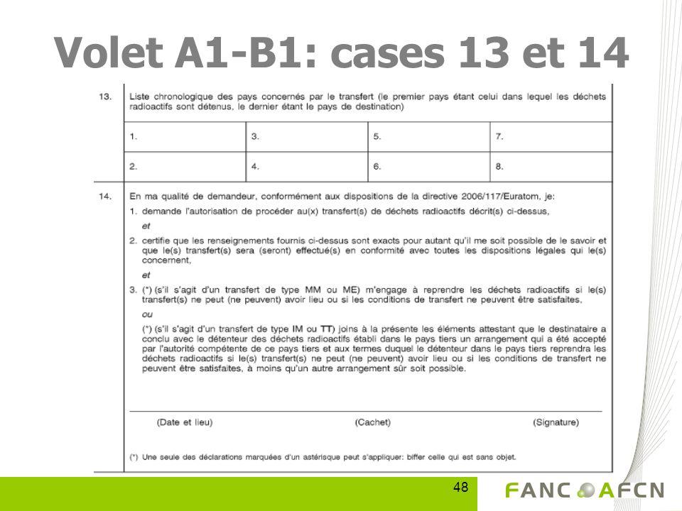 48 Volet A1-B1: cases 13 et 14