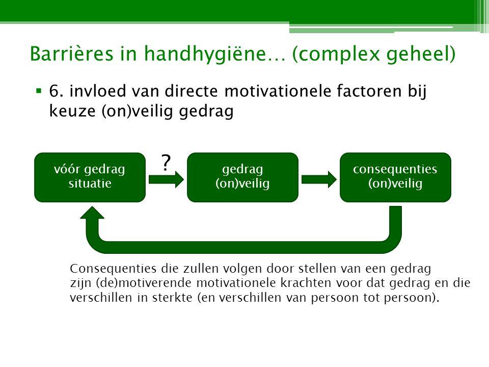 Barrières in handhygiëne… (complex geheel) 6.
