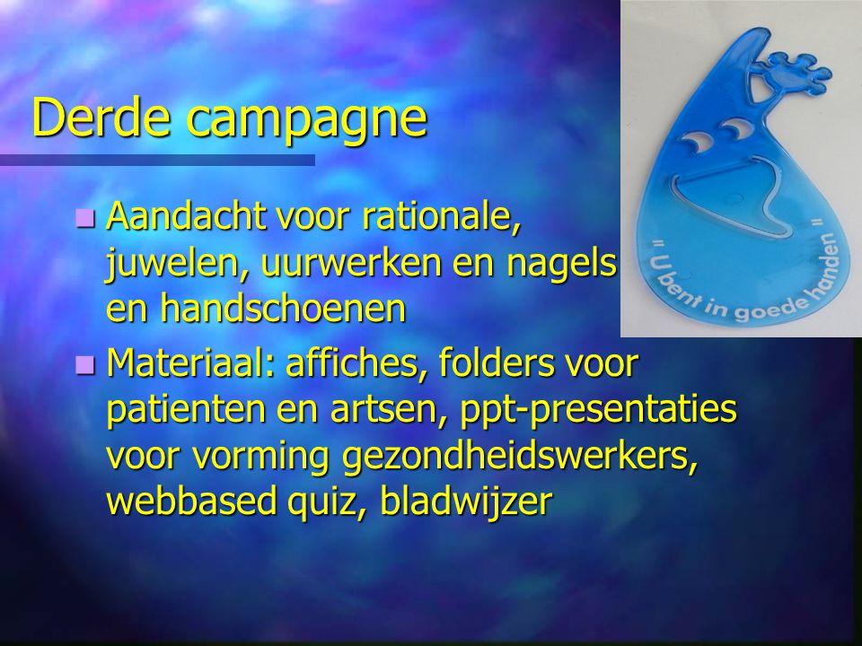 Derde campagne Aandacht voor rationale, juwelen, uurwerken en nagels en handschoenen Aandacht voor rationale, juwelen, uurwerken en nagels en handscho